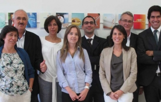 The Management Team (f.t.l.): Lígia Jorge (COO), Ricardo Stricker (CEO), Catarina Stricker (Head of Product Department), Sílvia Silva (Director for Portugal), Alexandre Gil (CFO), Sofia Cotovio (Marketing Director), Gabriel Moese (Director for Spain), Paulo Stricker (Head of New Business).
