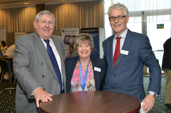 F.t.l.: Brian Binley, Member of the British Parliament, with BPMA Chairwoman Viv Blumfield and BPMA Director General Gordon Glenister.
