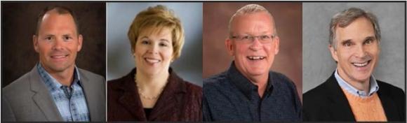 F.t.l.: Tom Goos, Mary Jo Tomasini, Bruce Perryman and Rick Brenner.