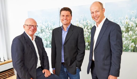 F.t.l.: Ulrich Oppenhejm (CEO and founder of Oppenhejm & Jansson), Pieter Boonekamp (Vice President Sales Europe of PF Concept) and Lars Bakker (Senior Category Manager of PF Concept).