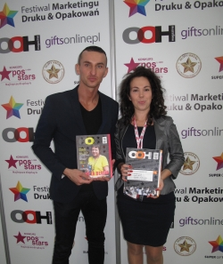 The organiser of the Marketing, Printing and Packaging Festival is the publishing company, OOH, which is based in Kattowice, Poland. F.t.l.: Robert Załupski, CEO, and the PR Manager, Katarzyna Lipska.