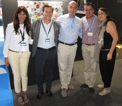 Xavier Marín (2.f.t.l.), CEO at Gamax and his team were more than satisfied.