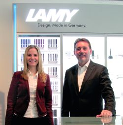 Myriam Bohr, Marketing Services/Media, and Frank Dangmann, Director Sales Promotional Products.