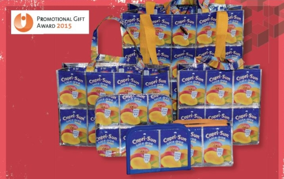 The German promotional products agency, Plan Concept Dr. Lichtenberg, won a Promotional Gift Award in 2015 for bags made out of surplus Capri Sun packaging material.