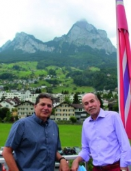 The Media Director Hans Schorno (l) and Hans- Rudolf Steiner, Head of Marketing & Sales B2B.