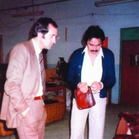Fritz Bauer (l) and Peter Iwen on their first visit to Asia in 1979.