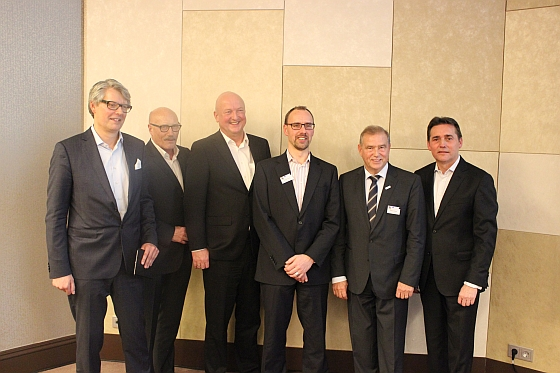 The new GWW Board. F.t.l.: Michael Freter, Manfred Schlösser, Jürgen Geiger, Ronald Eckert, Patrick Politze and Frank Dangmann.