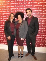 F.t.l.: The FYVAR Association Secretary Cristina Pérez and Perla Mesa with Daniel Pérez, Multimedia Manager at FYVAR.