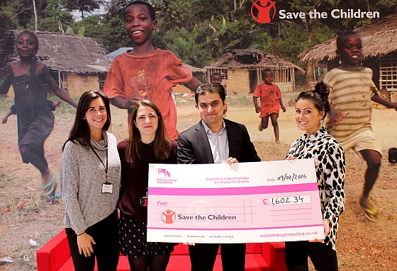 F.t.l.: Katie Jervis and Helen Lye (both Save the Children), Muhammad Anwaar and Holly Burgess (both Outstanding Branding).