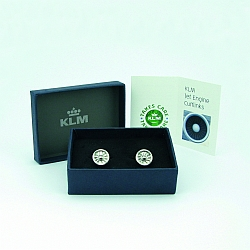 All of tuyu's products are custom-made designs, p.e. cufflinks for the airline KLM.