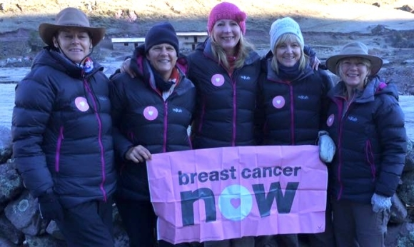 Defied the adverse weather conditions in the Andes thanks to the warm jackets of Promo International: The Breast Cancer Now activists from Beccles.