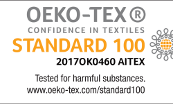 Arpe: Oeko-Tex seal and ISO certifications