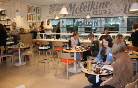 Moleskine: Press breakfast at new café in Hamburg