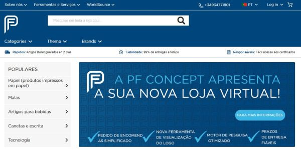 PFConcept Webshop portug - PF Concept: New webshop