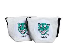 GlopeHope gold green bags - Globe Hope: The upcycling pioneers